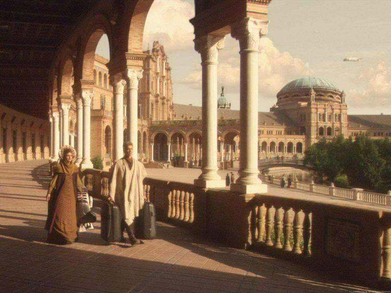 Pe urmele eroilor din Star Wars - Plaza de España Sevilia (Naboo)
